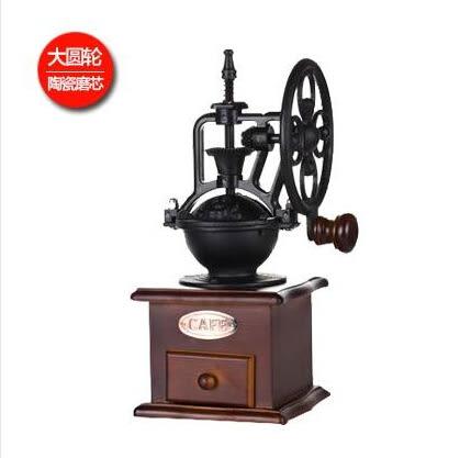 磨豆機 咖啡豆研磨機 手搖磨豆機輪圓輪 小型家用手動咖啡研磨機