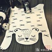 爬行墊 北歐老虎造型地墊裝飾地毯寶寶爬行墊游戲墊客廳臥室創意家居 igo 娜娜小屋