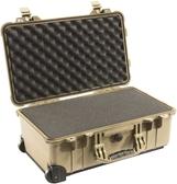 美國 PELICAN 派力肯 塘鵝 1510 輪座拉桿氣密箱-含泡棉 沙漠黃色 公司貨