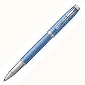 派克高尚經典鈦藍格紋鋼珠筆*p1931660