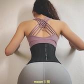 mitaogirl專業25根鋼骨網眼束腰帶短款收腹透氣腰封健身塑腰綁帶 [快速出貨]