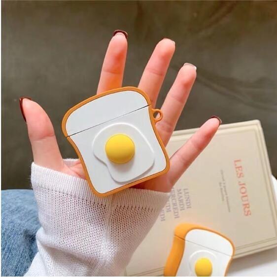 吐司蛋airpods保護套防摔堅固Airpods保護套防塵airpods12代皆可用 露天拍賣