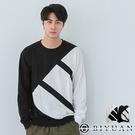 【OBIYUAN】 長袖T恤 寬鬆 衣服 配色 拼接 長T 共2色 【X610】
