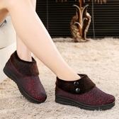 冬季布鞋女鞋媽媽鞋中老年棉鞋軟底防滑老人加絨保暖奶奶鞋