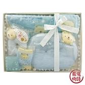 【日本製】【anano cafe】日本製 嬰幼兒彌月禮盒 五件組C 藍色 SD-2874 - 日本製 熱銷