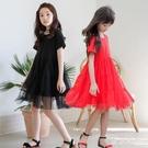 禮服洋裝女童連身裙 2020夏季新款洋氣中大童黑色禮服公主裙兒童沙灘裙 JX1254 『東京衣社』