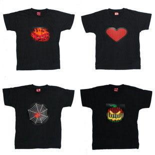 DJ電音閃光T恤 音樂聲控服飾