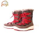 【下殺↘2290】Jacalu 中筒布面織帶雪靴2820 / 城市綠洲 (雪靴、防潑水、防雪、刷毛、布面)