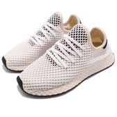 adidas 休閒慢跑鞋 Deerupt Runner W 米白 黑 網格設計 舒適中底 復古外型 女鞋 運動鞋【PUMP306】 CQ2913