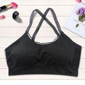 新款花邊吊帶裹胸無縫時尚透氣抹胸防走光運動內衣《小師妹》yf229