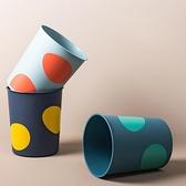 家用簡約客廳垃圾桶無蓋衛生間廢紙桶北歐廚房拉圾筒【白嶼家居】