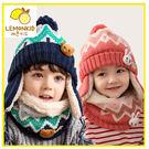 童帽  脖圍 韓國設計兒童雪花熊兔護耳帽...