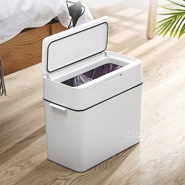 (限宅配) 簡約質感乾濕分體式垃圾桶 分類垃圾桶 回收桶 按壓式垃圾桶