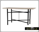 {{ 海中天休閒傢俱廣場 }} C-99 摩登時尚 餐桌系列 464-37 3X3尺美耐板餐桌/烤黑高腳(顏色可挑選)