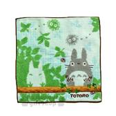 〔小禮堂〕宮崎駿 Totoro龍貓 小方巾《灰綠.樹林.龍貓.坐姿》25x25cm 4992272-53282