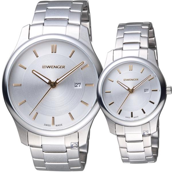 瑞士WENGER City城市系列經典時尚對錶   01.1441.105+01.1421.105
