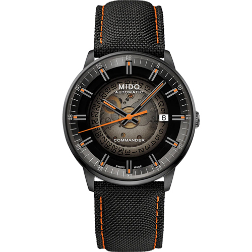 MIDO美度 Commander Gradient香榭系列 煙黑漸層機械腕錶 M0214073741100