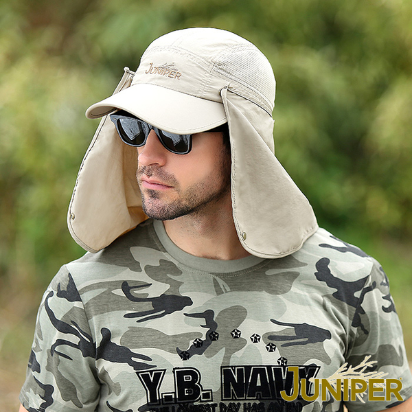 防蚊帽子-抗UV紫外線防潑水防蚊蟲遮陽披風親子帽J7526 JUNIPER
