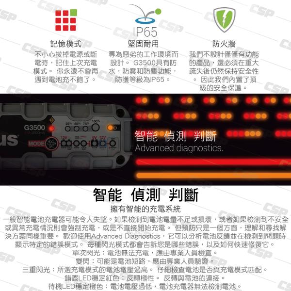 NOCO Genius G3500 充電器 / 6V和12V電池充電器和維護器 將深度放電的電池恢復至2伏