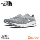 【The North Face 女 輕量便鞋《灰白》】3RE6/休閒健行鞋/懶人鞋/針織徒步鞋/襪套式