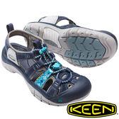 【KEEN 美國】Newport EVO 女護趾水陸 兩用鞋『深藍/土耳其藍』健行.涼鞋.15周年紀念款 1016483