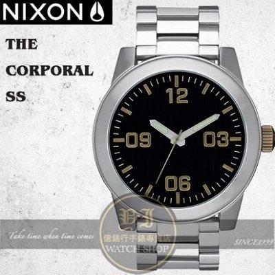 【南紡購物中心】NIXON 實體店The Corporal 腕錶/48mm/BLACK / BRASS/A346-2222
