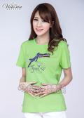 Victoria 派對女伶印花TEE-女-綠-Y8504040
