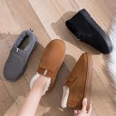 短靴女新款韓版時尚平底加絨保暖學生面包鞋網紅加厚雪地靴潮 遇見初晴