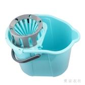 洗拖把桶長方形家用擰水桶免手洗單桶衛生間擰干手動壓擠水清洗桶 LN4204【東京衣社】