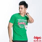 BOBSON 男款撲克合身版短袖上衣(綠23037-40)