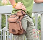 (低價促銷)腰包男士多功能帆布腿包軍迷戰術包戶外運動騎行腰包綁腿包工具包新品