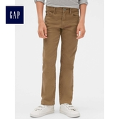 Gap男童 舒適時尚休閒卡其牛仔長褲 489635-棕色工裝