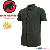 【MAMMUT Trovat Trail Shirt 男《石墨灰》】1015-00070-0121/長毛象/彈性透氣快乾/短袖襯衫★滿額送