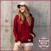 【Roush】女生OVER SIZE重磅刷毛帽TEE - 【410295-1】