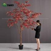 仿真植物 大型仿真植物北歐綠植楓樹仿真落地花卉大盆栽仿真花藝套裝裝飾-凡屋