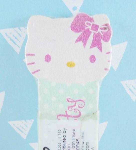 【震撼精品百貨】Hello Kitty 凱蒂貓~KITTY造型指甲銼板-粉臉造型-綠色