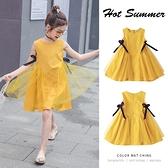 女童洋裝夏裝2021新款韓版小女孩網紗公主裙洋氣兒童背心裙子潮 幸福第一站