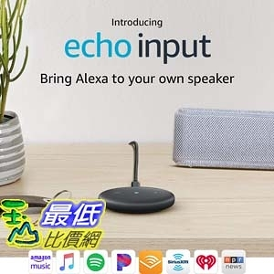 [7美國直購] Amazon Echo Input – Bring Alexa to your own speaker- Black