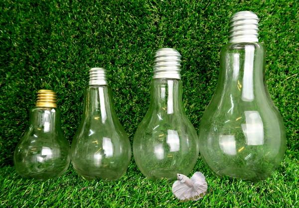 小 珍奶玻璃燈泡瓶.燈泡珍奶玻璃瓶☆人造花.插花配件.居家.店面.櫥窗.玄關擺飾.園藝資材用品☆