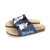 Disney 迪士尼 米奇 拖鞋 勃肯鞋 深藍色 女鞋 D120147W no019