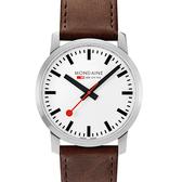 MONDAINE 瑞士國鐵 Simply Elegant 緻薄典雅系列腕錶/41mm 63811BG