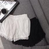 雙12購物節   夏季新款韓版學生少女蕾絲花邊松緊腰純色百搭安全褲薄款打底褲女   mandyc衣間