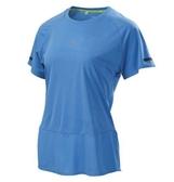 MIZUNO 女裝 上衣 短袖 T恤 吸汗 快乾 透氣 反光條 素面 藍【運動世界】J2TA920323