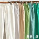 春夏季棉麻褲女大尺碼新款正韓寬鬆休閒亞麻九分褲顯瘦小腳哈倫褲潮 M-4XL