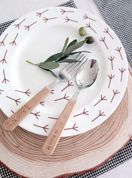 Donna Wilson Birdy Walk小鳥足跡骨瓷盤 餐盤 27cm