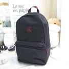 JORDAN 雙肩後背包 經典LOGO 公司貨 JD2133001GS001 正黑色x喬丹紅【iSport愛運動】