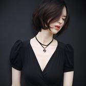 項鍊女鎖骨鍊脖子飾品頸帶頸鍊時尚個性脖頸韓國簡約短款百搭項圈
