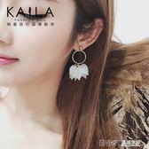 Kaila記憶碎片耳環 女925銀針韓國潮人幾何人魚姬網紅超仙耳墜 溫暖享家