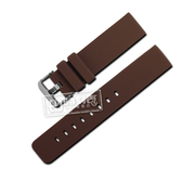 Watchband / 同寬18.20.22mm / 舒適耐用輕便運動型矽膠錶帶 咖啡色