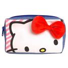 【震撼精品百貨】Hello Kitty 凱蒂貓~HELLO KITTY可愛大臉立體裝飾雙層拉鍊化妝包